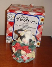 Mary's Moo Moos Heffergreen Cow With Evergreen Dated 1994 Figurine - $11.99
