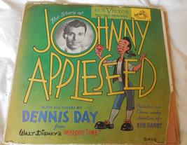 Disney JOHNNY APPLESEED 78 RPM 3 Record Album Set RCA 368 Dennis Day Ken... - $49.49