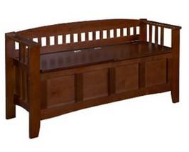 Bench Storage Seat Entryway Furniture Wood Bedr... - $141.37