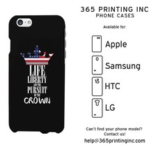 USA Flag Crown Phone Case for Apple iPhone, Galaxy S, Note, HTC M8, LG G3 - $13.99