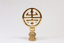 """Brass Round Double Happiness Lamp Finial 2.25"""" - $12.86"""