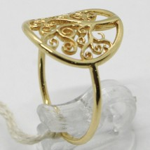 18K YELLOW GOLD TREE OF LIFE RING, SMOOTH, BRIGHT, LUMINOUS, MADE IN ITALY image 2