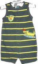Boys Green Printed One Piece Size 3-6 Months - $2.00