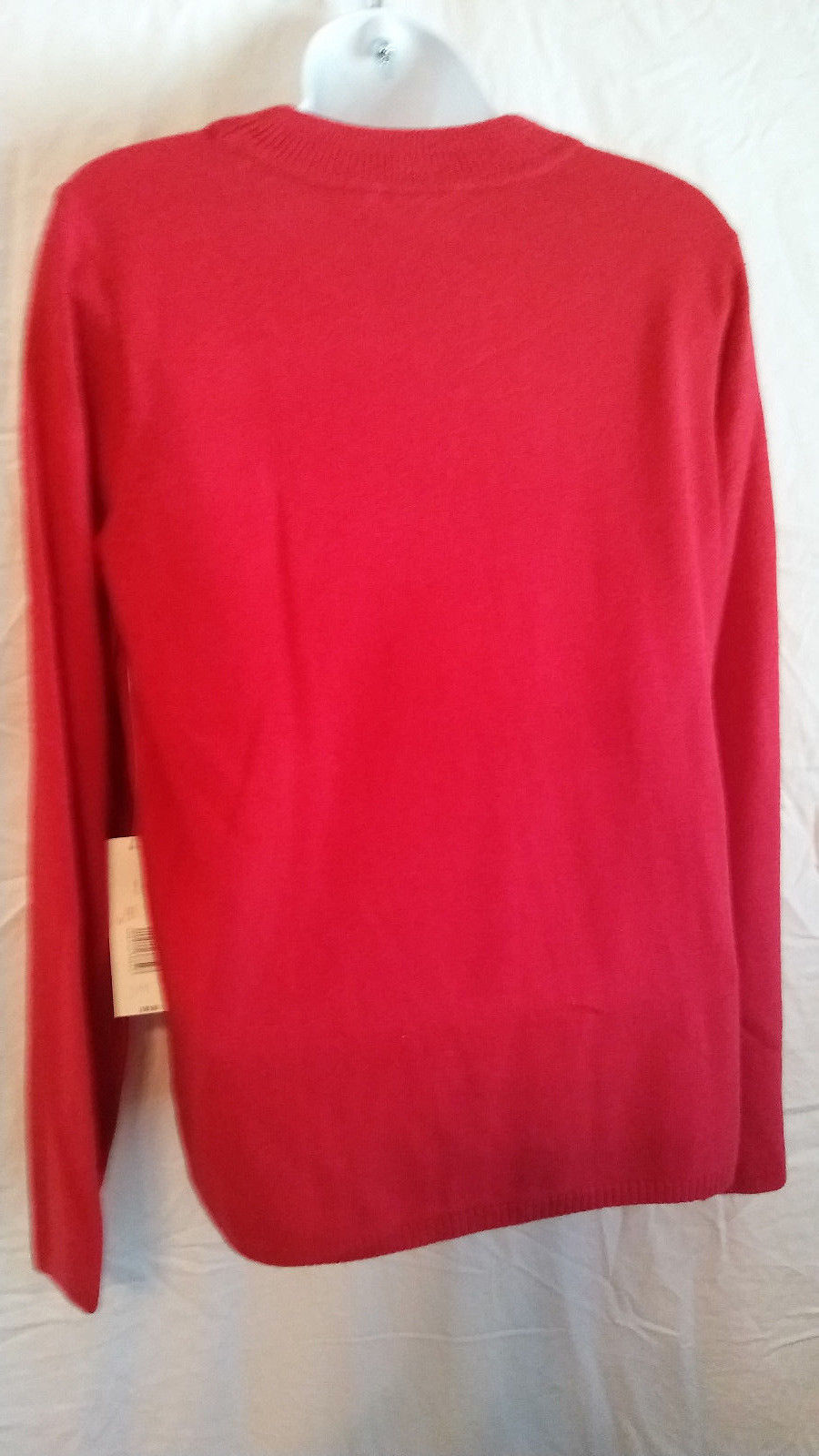 Kim Rogers  Long Sleeve RED  Sweater, size MEDIUM  NEW WITH TAGS