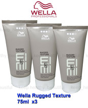 Wella Rugged Texture Matte Texturising Paste 75ml x 3 Registered post - $39.50