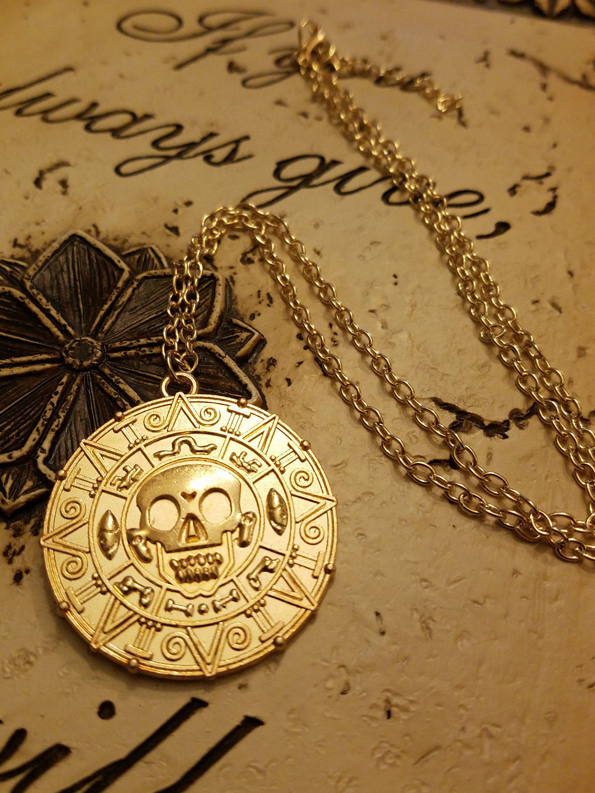 necklace chanel fashion from cambon rue products gold medallion of amarcord coin vintage