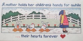 Heart and Hands Dimensions Counted Cross Stitch Kit #3569 Mother Children Baby  - $8.77