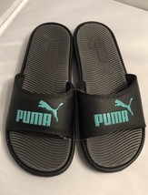 New Siz 10 Puma Slide Sandals Black Teal Beach Shoes Surf Water Flip Flo... - £19.10 GBP