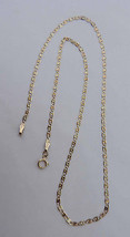 """Ladies Tri-Gold Anchor Chain Necklace -10K Yellow, Rose, White - 18"""" by ... - $89.09"""