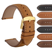 WOCCI Suede Vintage Tan Leather Replacement Watch Band Quick Release Straps - $22.99