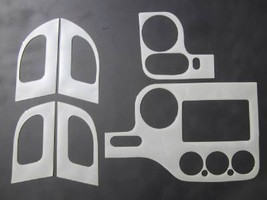2003-2006 Ford Expedition XLT 2WD Dash Trim Kit Overlay Oxford Burl Look 6 PC