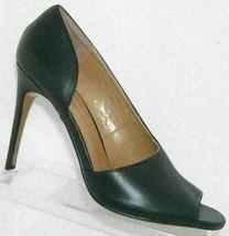Report Signature Oslo black leather round peep toe d'orsay slip on heels... - $13.81