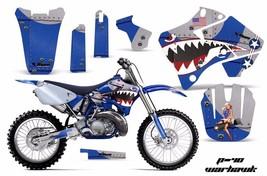 Dirt Bike Graphic Kit Decal Sticker Wrap For Yamaha YZ125 YZ250 96-01 WARHAWK U - $169.95
