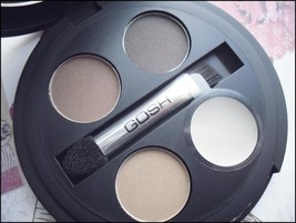 GOSH Cosmetics Brow Kit Wax+ 3 Shades + Applicator and Brush With Mirror - $13.61