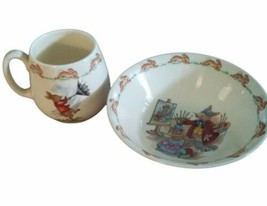 Royal Doulton BUNNYKINS Two Piece Set Cup and Cereal Bowl - $14.54