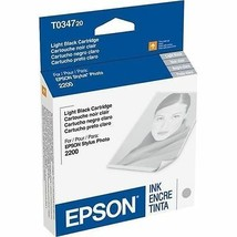 Epson T034720 lt.black ink C13T034720 GENUINE - stylus photo printer 220... - $26.69
