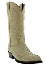 Mens Genuine OffWhite Alligator Crocodile Leather Western Cowboy Boots J Toe - $251.99