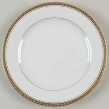"NORITAKE RICHMOND WHITE GOLD BREAD DESSERT PLATES 3 LOT 6 3/8"" 6124 - $16.82"