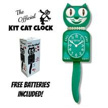 """Vert Beauté Femme Kit Chat Horloge 15.5 """" Gratuit Batterie Fait en USA K... - £49.11 GBP"""