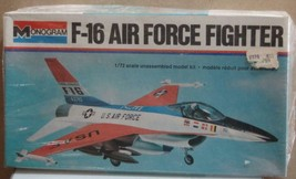 F-16 Air Force Fighter  1/72  model plane Sealed never opened Monogram - $12.00
