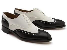 Handmade Men Spectator shoes, Men wingtip brogue dress shoes, Men formal... - $159.99