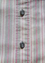 lot 2 dress shirts button 3/4 sleeve fitted stripe Old Navy size XS Express sz 2 image 6