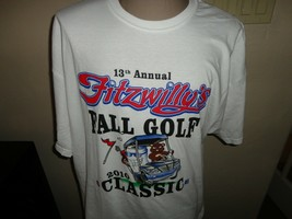 White Fitzwilly's  2010 13th  Annual Fall Golf Classic Tshirt  2XL Beer Party  - $19.79