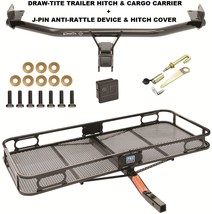 TRAILER HITCH + CARGO BASKET CARRIER + SILENT PIN LOCK FITS 16-17 HYUNDA... - $335.56