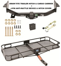 TRAILER HITCH CARGO BASKET SILENT PIN LOCK FOR 13-18 HYUNDAI SANTA FE 20... - $383.45