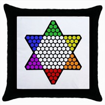 Chinese Checkers Throw Pillow Case - $16.44