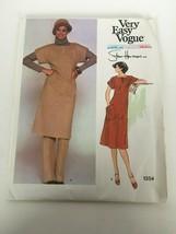 Very Easy Vogue American Designer Stan Herman Sewing Pattern 1354 Dress Vtg 8 - $9.00