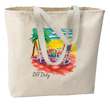 Off Duty Beach New Tote Bag Shop Travel Events Gifts Vacation - $26.54 CAD