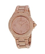 Michael Kors MK5862 Women's Watch CAMILLE Rose Gold Pave Crystal Glitz  - $197.00