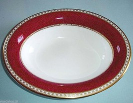 Wedgwood Ulander Powder Ruby Open Vegetable Bowl New - $165.90