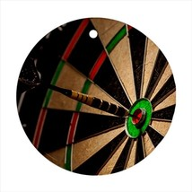Darts Round Porcelain Ornament - Holiday Seasons - $7.71