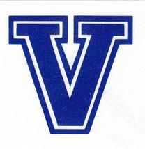 REFLECTIVE Villanova Wildcats fire helmet decal sticker RTIC WV hardhat - $3.46