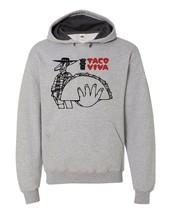 Taco Viva Hooded Sweatshirt vintage retro design 70s 80s fast food cotton blend image 1