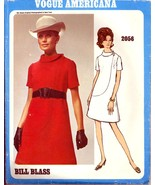 1960s Size 12 Bust 34 Bill Blass Dress Vogue Americana 2056 Pattern Desi... - $18.99