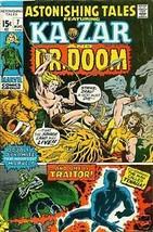 ASTONISHING TALES #7 (1971) Marvel Comic KaZar Dr Doom Black Panther - $9.89