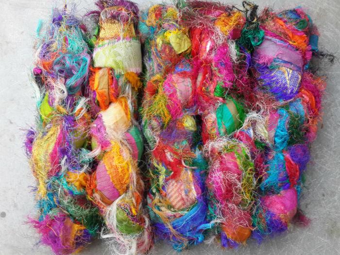 Recycled Sari Silk Fuzzy Eyelash Weaving And 50 Similar Items