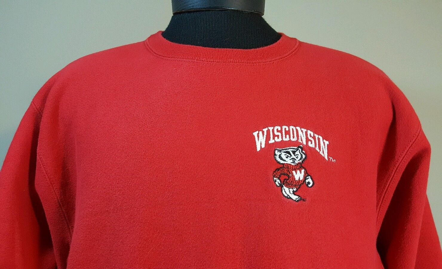 Primary image for Vtg Champion Reverse Weave Sweatshirt Crew Men M Wisconsin Badgers Sewn 80's 90s
