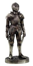 7 Inch Armored Medieval Knight with Dual Swords Statue Figurine - $22.28