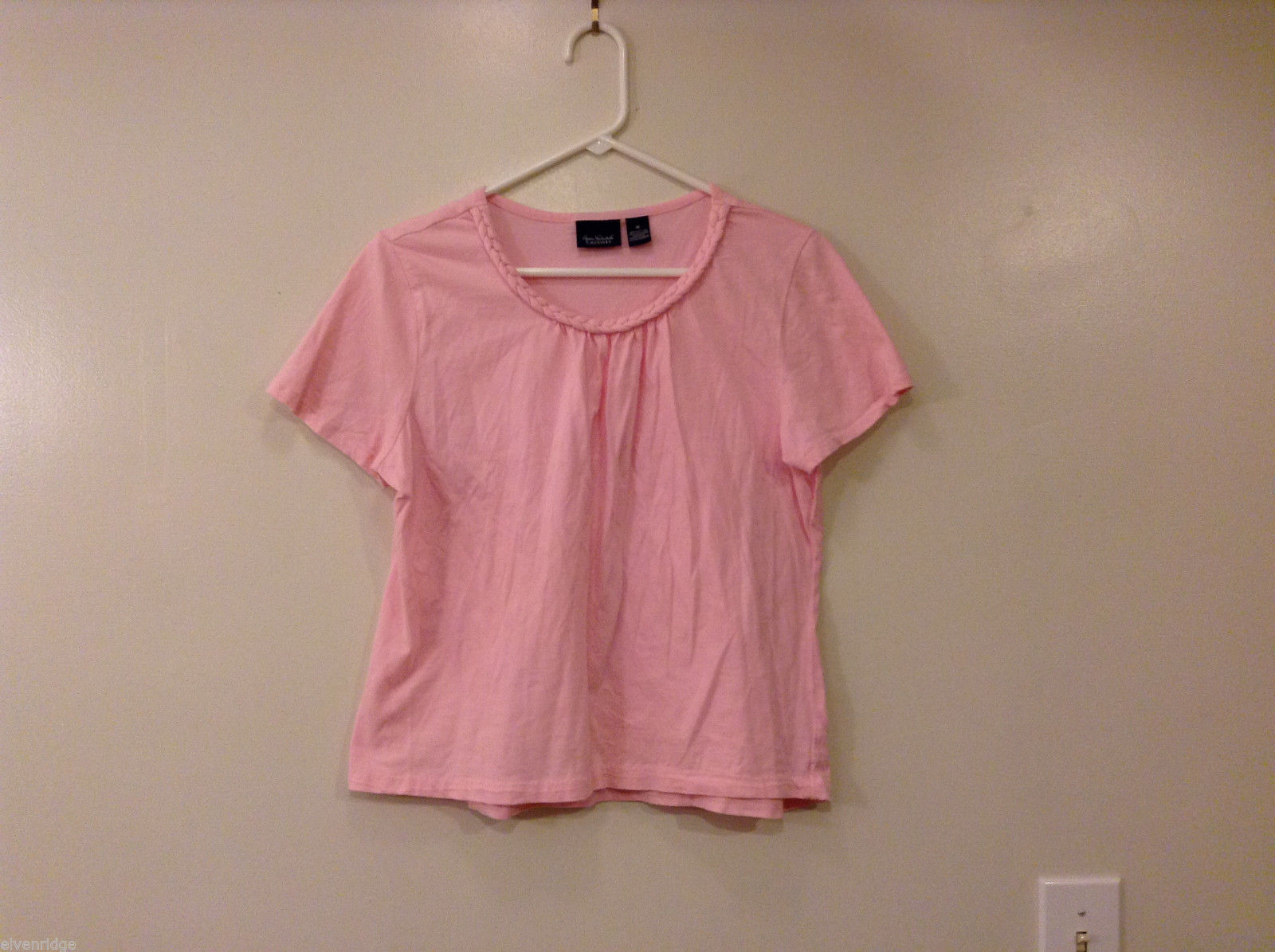 Gloria Vanderbilt Casual Pink 100% Cotton Blouse T-shirt Top, Size M