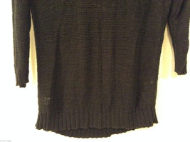 Ladies Old Navy Black Knitted Sweater Wide Scoop Neck 3/4 Sleeve size L image 6