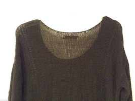 Ladies Old Navy Black Knitted Sweater Wide Scoop Neck 3/4 Sleeve size L image 5