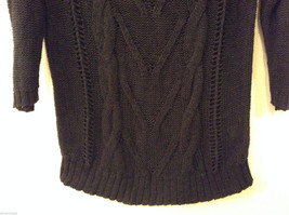 Ladies Old Navy Black Knitted Sweater Wide Scoop Neck 3/4 Sleeve size L image 4