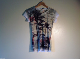 NEW XL Junior Sunshirt Tshirt Grunge Palm Made in USA 50% cotton 50% polyester