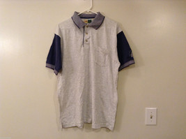 Mens WearGuard Gray Blue Polo Style T-shirt w/embroidery on left sleeve, size L