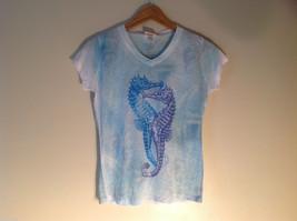 NEW Junior Sunshirt Light Blue Seahorse Size XL T-shirt Made in USA - $39.99