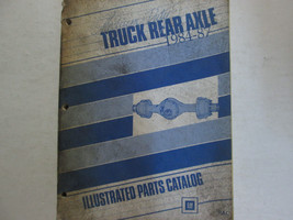 1984 1985 1986 1987 GM TRUCK MEDIUM DUTY REAR AXLE PARTS Catalog Manual OEM Book image 1